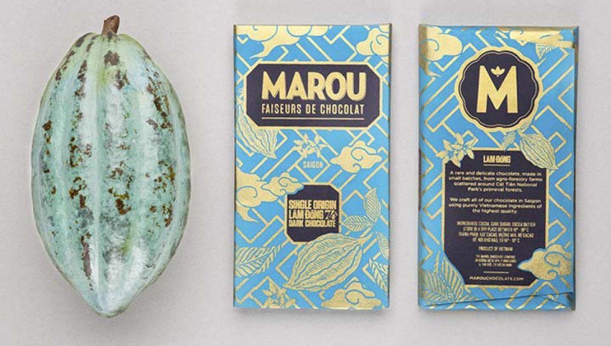 Chocolat Noir Marou - Lam Dong 74% de Cacao