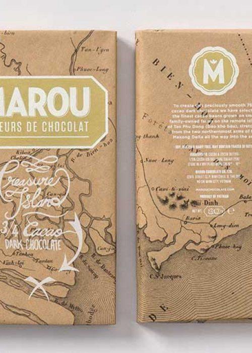 Chocolat Noir Marou - Treasure Island 75%