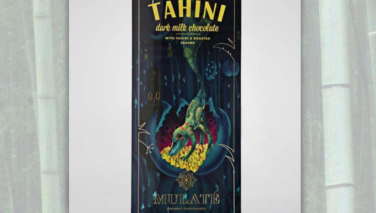 Chocolat au Lait Mulaté - Tahini Sésame  45% de Cacao