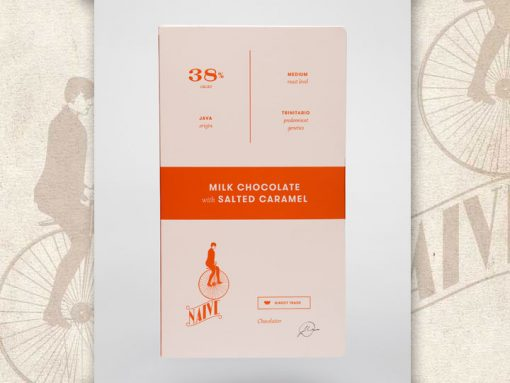 Milk Chocolate with salted caramel, Naive Chocolate