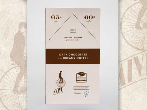 Dark Chocolate with creamy coffee cream, Naive Chocolate