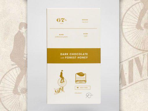 Dark Chocolate with forest honey, Naive Chocolate