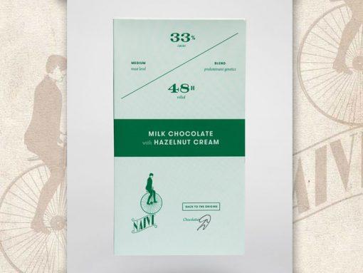 Milk Chocolate with hazelnut, Naive Chocolates