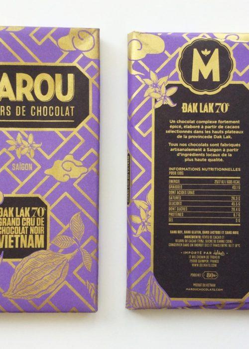 Chocolat Noir Marou - Dak Lak 70% de Cacao