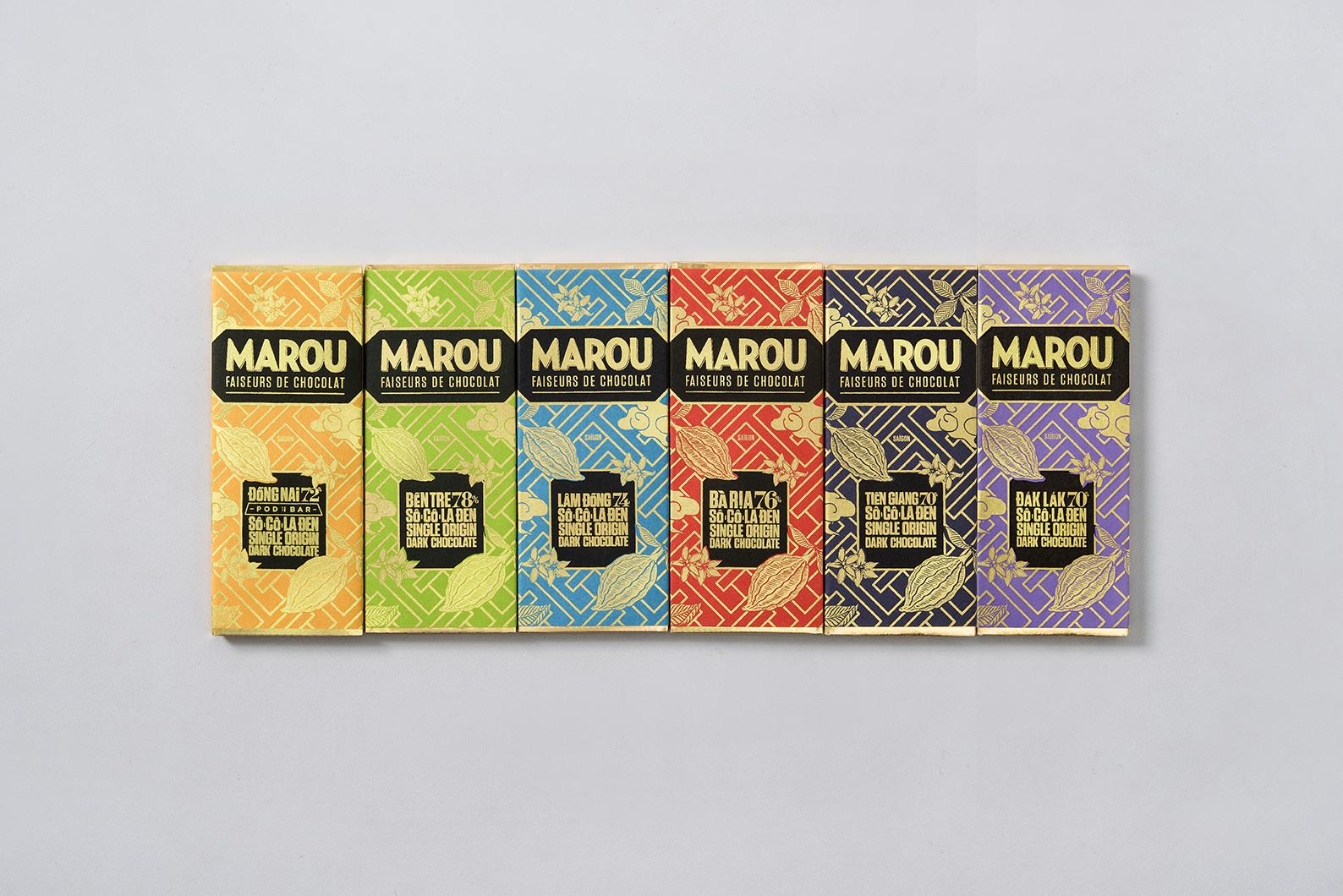 Assortiment Chocolat Noir – Mini tablettes Marou