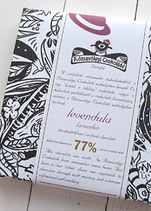Chocolat Noir Rozsavolgyi - Lavande 73% de Cacao