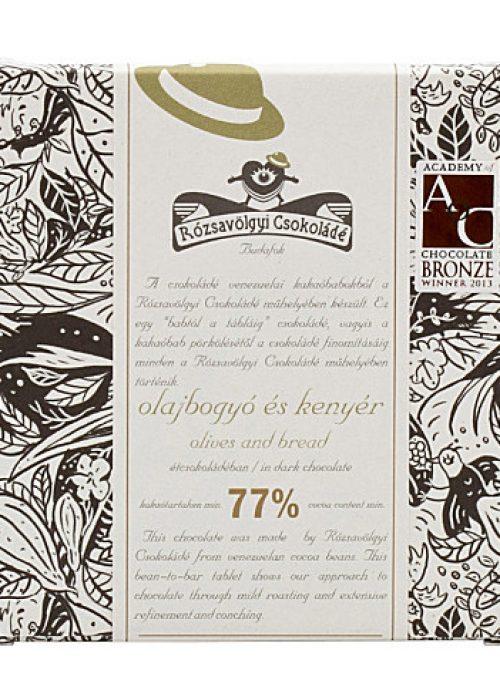 Chocolat Noir Rózsavölgyi - Olives et Pain 73%