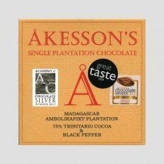 Chocolat Noir Akesson's - Poivre Noir 75% de Cacao
