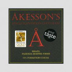Chocolat Noir Akesson's - Brésil 75% de Cacao