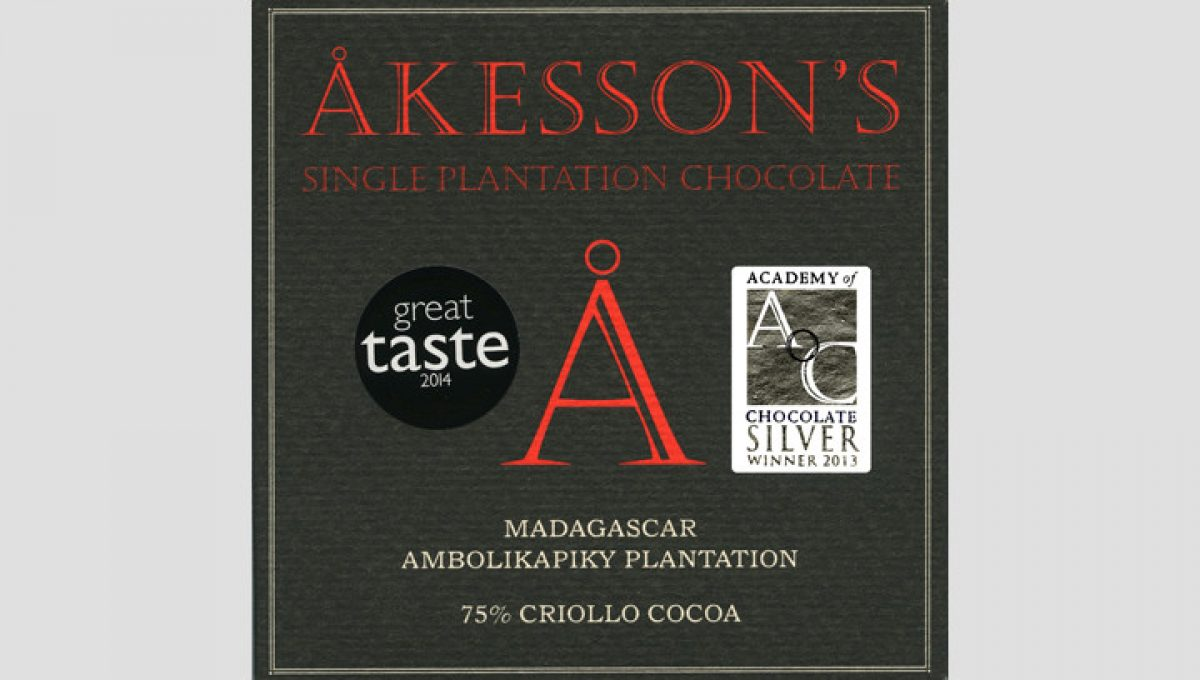Chocolat Noir Akesson's - Madagascar 75% de Cacao