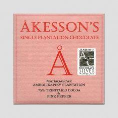 Chocolat Noir Akesson's - Baies Roses 75% de Cacao