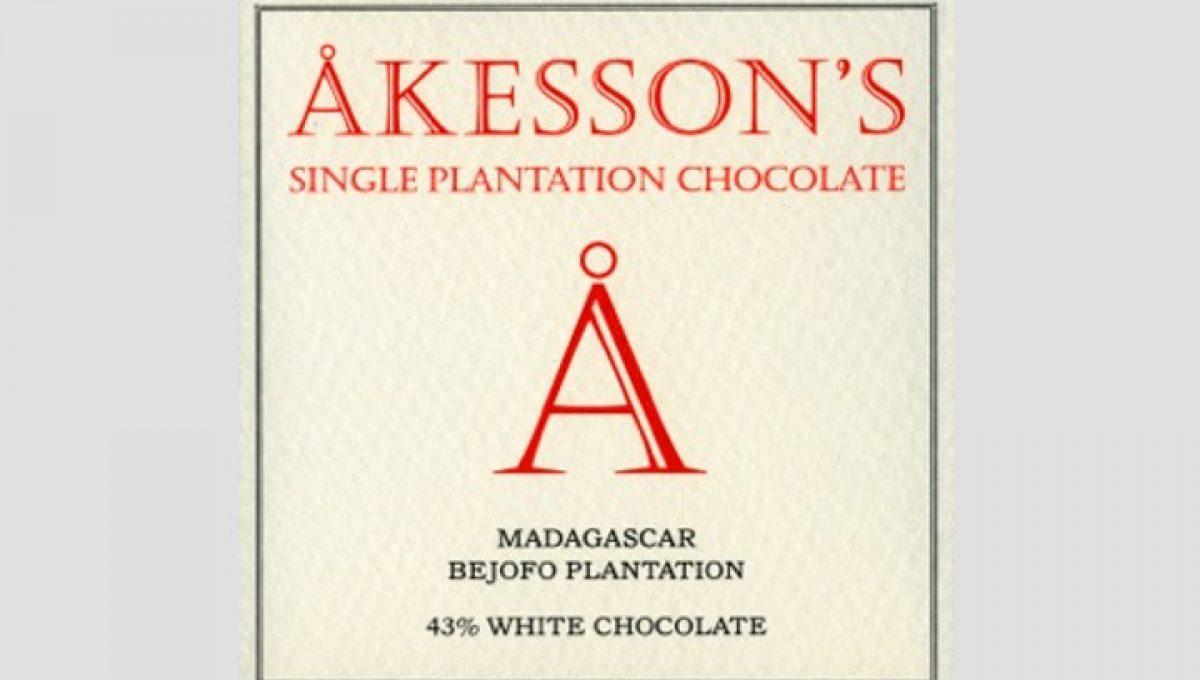 Chocolat Blanc Akesson's - Madagascar 43% de Cacao