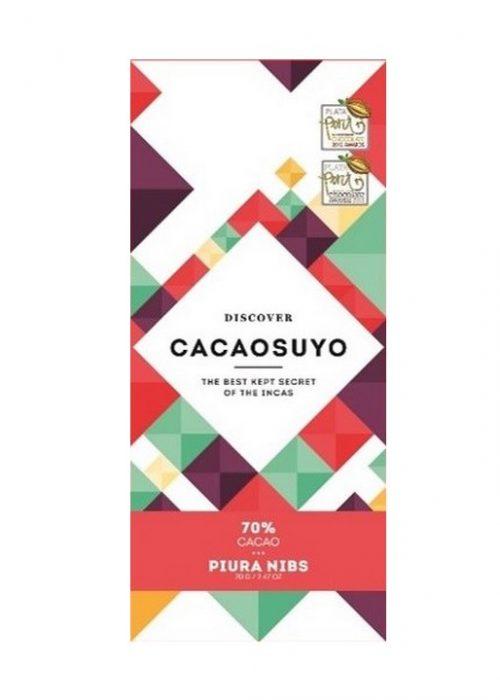 Chocolat Noir Cacaosuyo - Piura Nibs 70% de Cacao