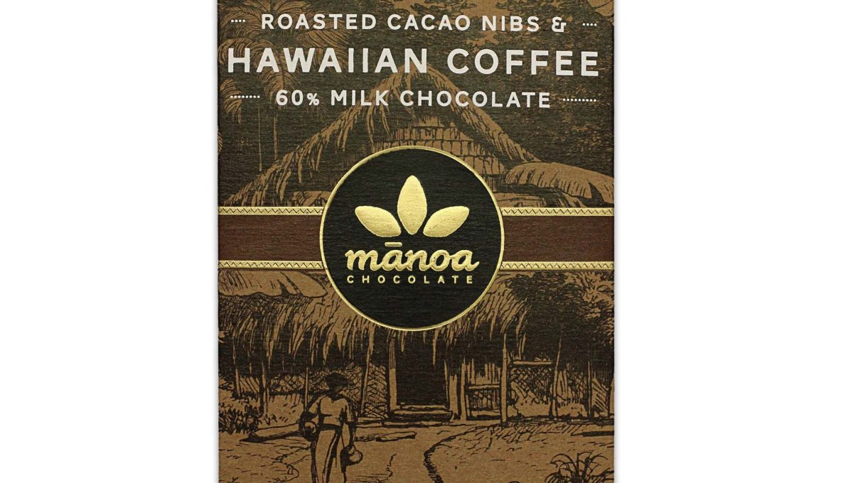Chocolat au Lait Manoa - Eclats Fèves Cacao & Café