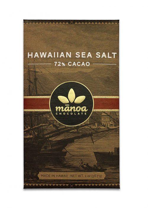 Chocolat Noir Manoa - Sea Salt Cristaux de Sel 72%