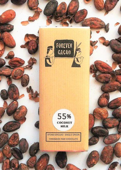 Chocolat Noir FOREVER CACAO - Lait de Coco 55%
