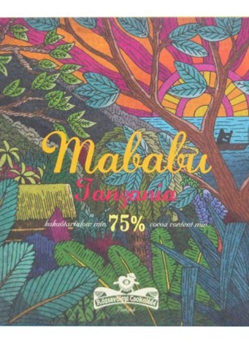 Chocolat Noir Rózsavölgyi - Tanzanie Mababu 75%