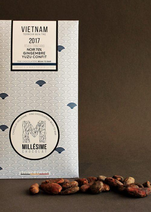 Chocolat Noir Millésime - Gingembre et yuzu 75%