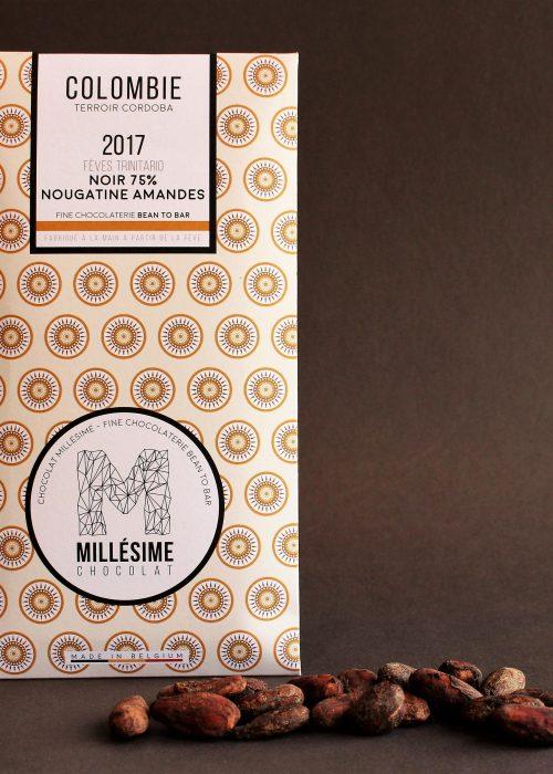 Chocolat Noir Millésime - Nougatine Amandes 75%