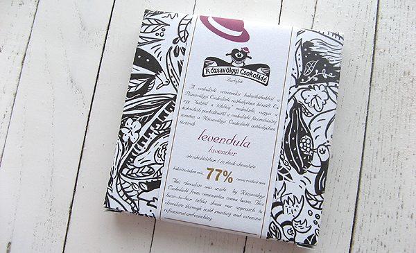 Chocolat Noir Rozsavolgyi – Lavande 73% de Cacao