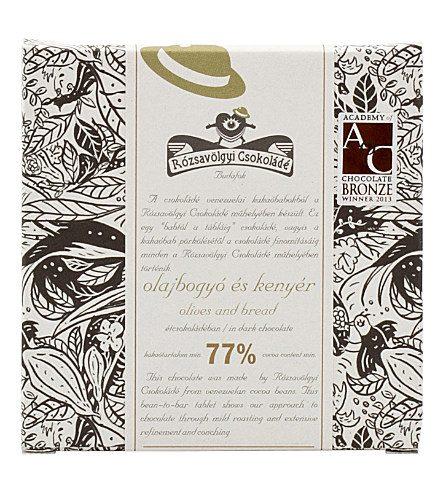 Chocolat Noir Rózsavölgyi – Olives et Pain 77%