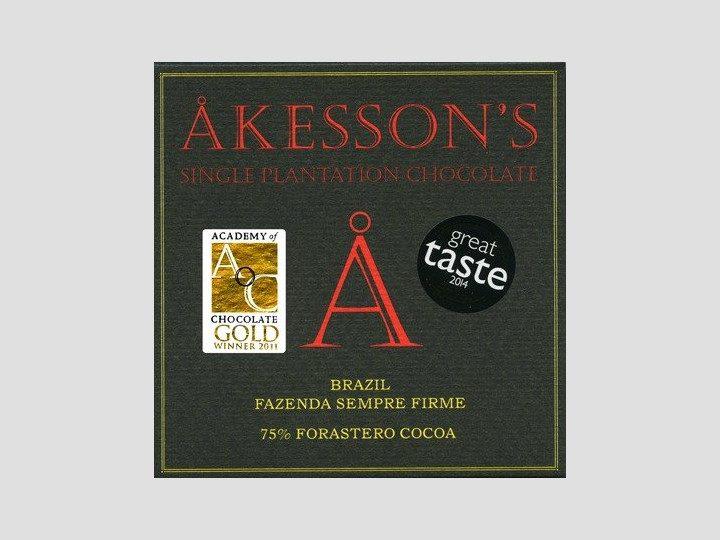 Chocolat Noir Akesson's – Brésil 75% de Cacao