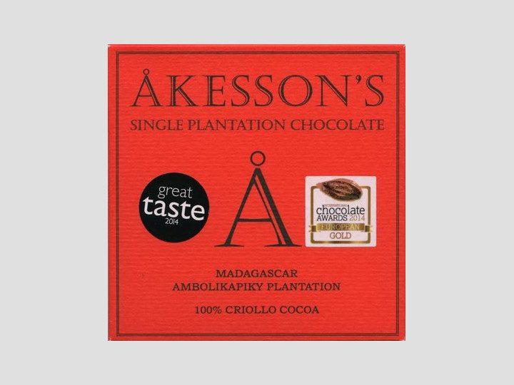 Chocolat Noir Akesson's – Madagascar 100% Cacao