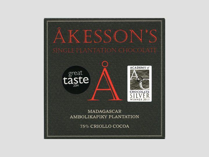 Chocolat Noir Akesson's – Madagascar 75% de Cacao