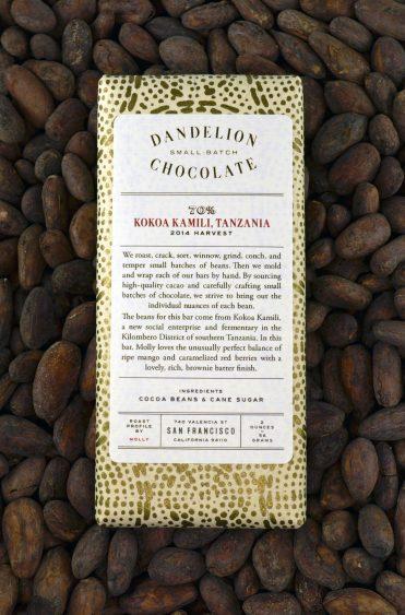 Chocolat Noir Dandelion – TANZANIE 70%