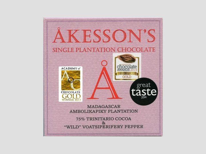Chocolat Noir Akesson's – Poivre Sauvage