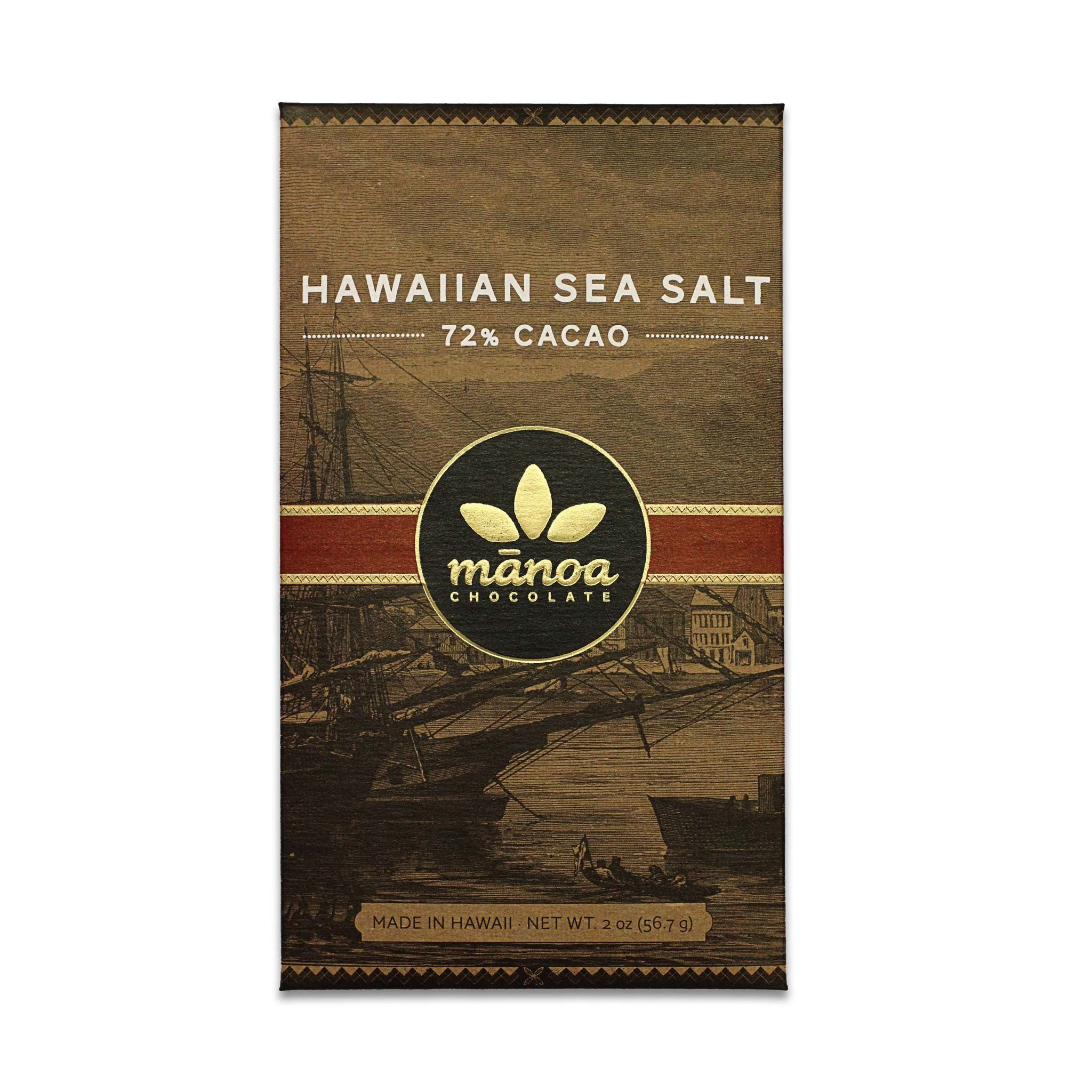 Chocolat Noir Manoa – Sea Salt Cristaux de Sel 72%